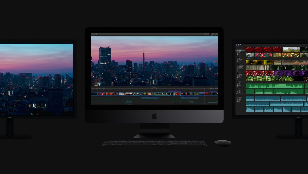Apple iMac Pro with Two Monitors