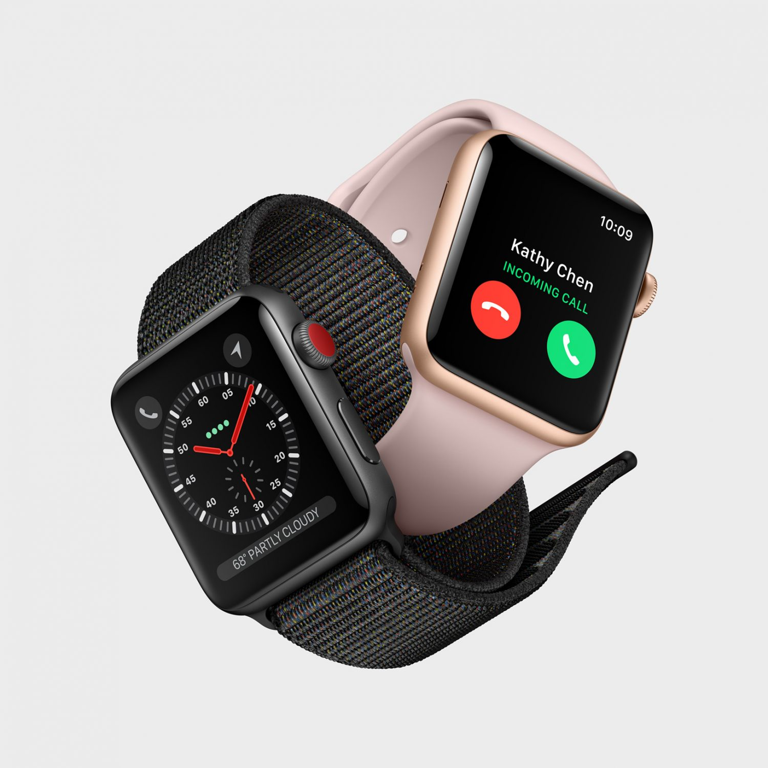 Apple Watch Series 3 Space Grey and Rose Gold