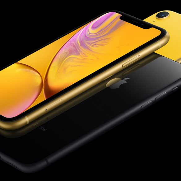 Apple iPhone XR in Yellow and Space Grey